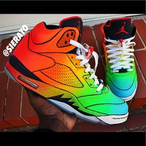 new arrivals ff9a1 ac95a ... cheap custom light up rainbow air jordan 5 retro custom supreme nike  c27f5 26093